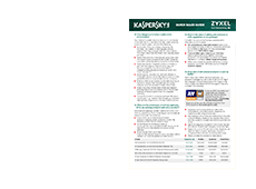 Zyxel Quick Sales Guide Kaspersky